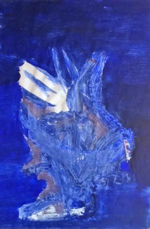 Bewustzijntraining: Bewustzijn trainingen, Blauw - wit: schilderij door Sonja Nuyt